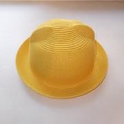 Летняя шляпка с ушками желтая фото