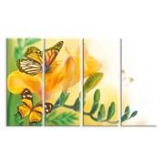 Картина Бабочка на желтом цветке фото