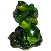 Сувенир Пара лягушек на кувшинке 12х14см 4704 фото