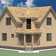 Проект Дом из бруса №11 (7,8х7,8) фото