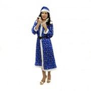 Синий костюм снегурочки со снежинками фото
