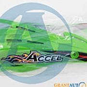 Лопухи защиты на руль мотоцикла зеленый Accel Taiwan фото