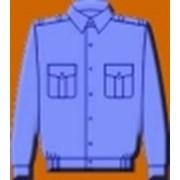 Рубашка с длинным рукавом серо-голубая. Рубашка с коротким рукавом серо-голубая. фото