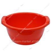 Таз полиэтиленовый для пищевых продуктов 6л круглый цветной Горизонт №438345 фото