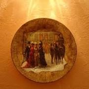 Декупаж тарелок настенных фото