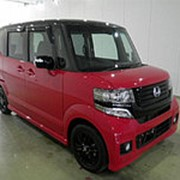 Микровэн HONDA N BOX PLUS кузов JF1 класса минивэн модификация Custom G A Package г 2014 пробег 8 т.км красный фото