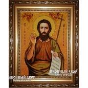Иоанн Предтеча - Качественная Икона Из Янтаря, Ручная Работа фото