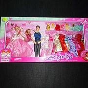 Три куклы с гардеробом 98009 36х71,5см фото