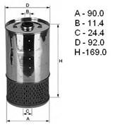 Элемент масляного фильтра MB, MB408D,Renault, Unico Filter (168*90) Прочие — Россия фото