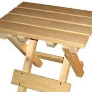 Табурет раскладной деревянный фото