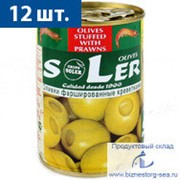 "Оливки ""SLER"" с креветками 280 гр. фото"