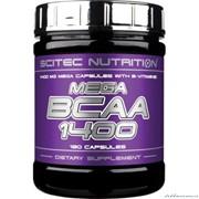 Аминокислоты Scitec Nutrition Mega BCAA 1400 180 капсул фото