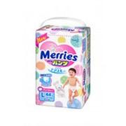 Трусики-подгузники MERRIES L 4 (9-14кг), 44шт фото