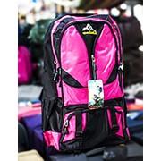 Туристический рюкзак YANDIXILIE черный с розовыми вставками фото