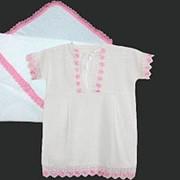 Крестильный набор для девочки 0016 фото