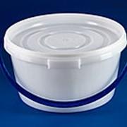 Ведро ПЭТ 8,0л, круглое, с крышкой, белое фото