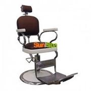 Мужское винтажное парикмахерское кресло 75 фото