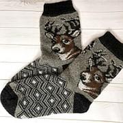 Носки мужские шерстяные из овечьей шерсти Олень, Р-р 42-45 фото