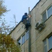 Сварочные работы на высоте. фото