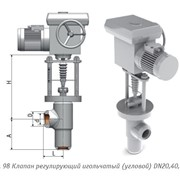 Клапан регулирующий игольчатый угловой DN 65 1436-65-Э фото