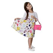 Нарядное платье белого цвета с бантом 122 фото
