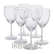 Бокал для белого вина, прозрачное стекло СВАЛЬК фото