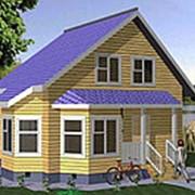 Дом из бруса с эркером 7х6 фото