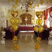 Украшение воздушными шарами свадеб, Вишневое фото