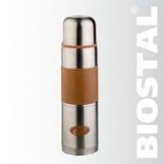 Термос BIOSTAL NB-750P-C 0.75 л, узкое горло,с крышкой-чашкой, цветная резиновая вставка, мокко фото