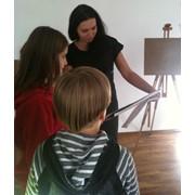 Детская художественная студия, занятия в художественной студии для детей, живопись, декоративное творчество, лепка. фото