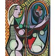 Картина по номерам Пабло Пикассо Девушка перед зеркалом фото