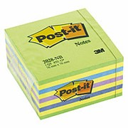Куб Post-it , 76х76 мм, неоновый зеленый, 450 л фото