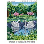 Схема для полной вышивки бисером Лебеди фото