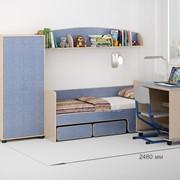 Детская комната Легенда 26 венге светлый/лен голубой фото