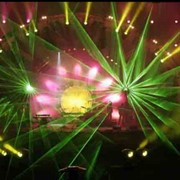 Лазерное шоу для нового года фото