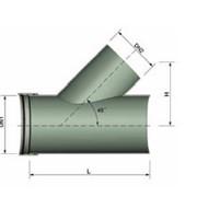 Детали трубопроводов : монолитные ответвления 45o фото