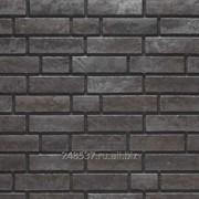 Клинкер ная фасадная плитка Stroeher Zeitlos 359 kohlenglanz рельефная неглазурованная NF14, 240x71x14 мм фото