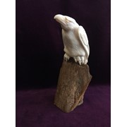 """Скульптура """"Старик орел"""", зуб кашалота, кость мамонта фото"""