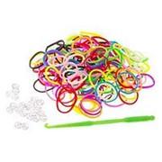 Резиночки для плетения Loom Bands (Лум Бэндс) 600 шт., разноцветные фото