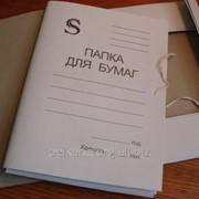 Папка на завязках белая,SPONSOR,SFTT. фото