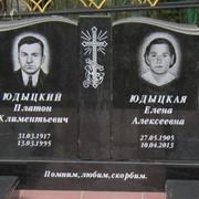 Памятник из гранита двойной фото