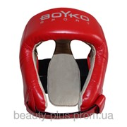 Шлем боксерский BOYKO-SPORT №2 кожа красный фото