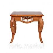 Стол из ротанга МиК Журнальный столик 6022 n002167, цвет Медовый дуб, длина 65 см., ширина 65 см., MK 3410 фото