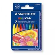 Набор мелков восковых Staedtler Noris, 8 мм, 8 штук, картонная коробка 8 цветов фото