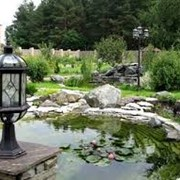 Строительство фонтанов, благоустройство и озеленение территорий, благоустройство объектов недвижимости, недвижимость. фото