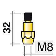 142.0024 Вставка для наконечника, М8/М8/34 мм. Abicor Binzel фото