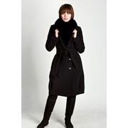 Пальто демисезонное кашемировое с мехом Кент, артикул - Ш-202 фото