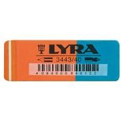 Ластик LYRA для карандашей и чернил, 55x19x9 мм 40шт/уп. фото