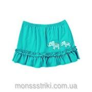 Трикотажная юбка Слоники на 12-18, 18-24 месяца, 2 года фото