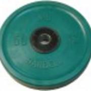 Диск олимпийский 50 кг, зеленый фото